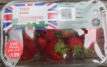 English Strawberries from Tesco