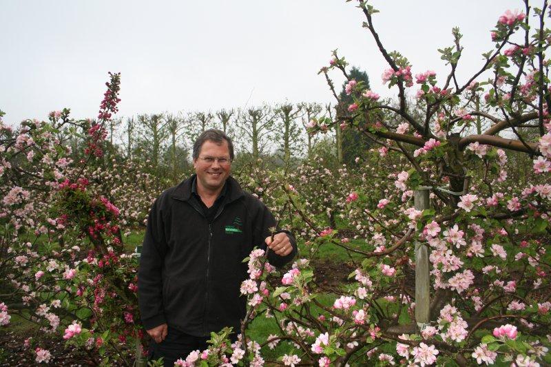 Robert Mitchell enjoying his beautiful Bramley Blossom