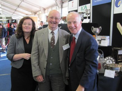 David Banfield with Sarah Calcutt and Michael Jack.