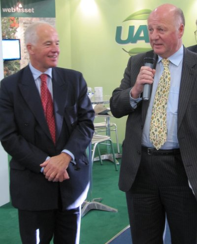 The Minister Jim Paice with NFS President Michael Jack (left)