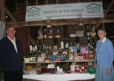 Volunteers from Hospice in the Weald with The Tombola at Pippins Farm