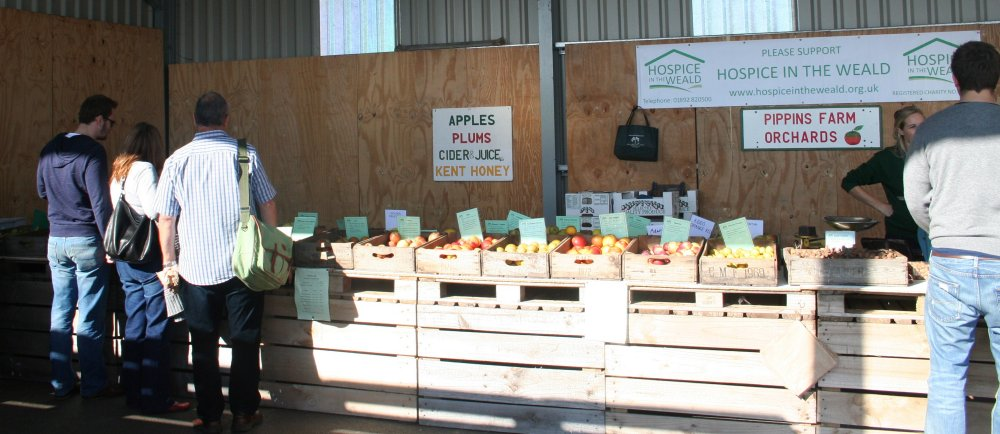 The sales and Tasting area at Pippins Farm.