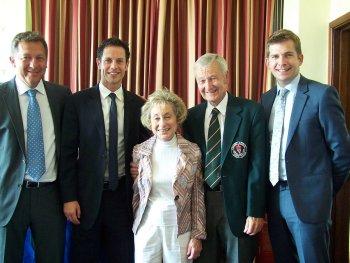 Matt Lorenzo, Scott Minto, Evei Ross, Golf Club Club Captain Arthur Simpson, and Angus Scott.