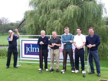 The English Apple Man gets the Brian Moore Golf Day underway with a shotgun start!
