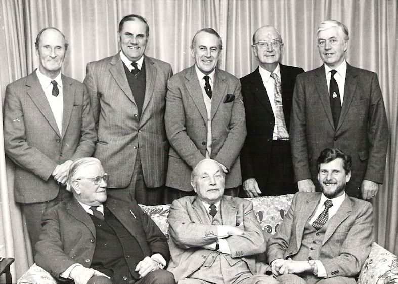 RJW with his friends at The Brenchley & District Discussion Group