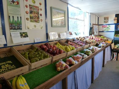Ringden Farm has a comprehensive display of home grown apples and pears
