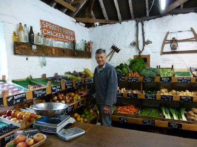 Tim in the Farm Shop at Great Park Farm