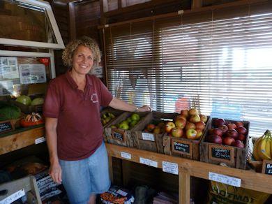 Emma Hewitt in her Hope Cottage Farm Shop