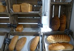 Bread baked on site at Hartley Farm Shop