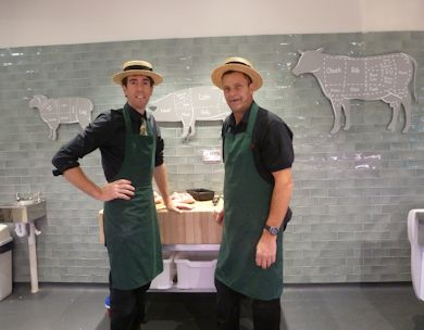 Butchers Ian Jones and Gary Simmons