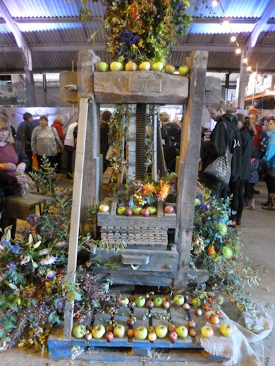 Decorated Cider Press at Brogdale Apple Festival
