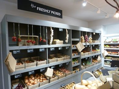 The fresh produce display at Hartley