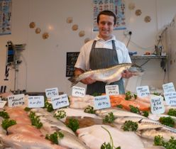 Fishmonger Jack Thorpe at Hartley