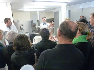 Sausage making demonstration