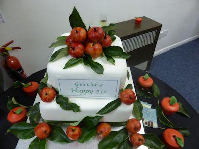 The Gala Club 21st Birthday Cake