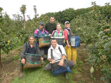 This group of pickers originate from Romania and Bulgaria